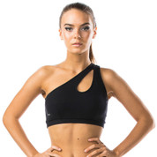 black compression crop top | fitness wear online