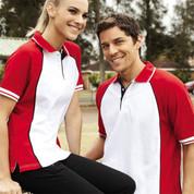 plain 3 colour panel polo shirts online
