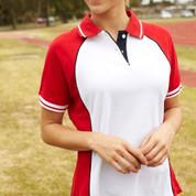 ladies 3 colour plain polo shirts online
