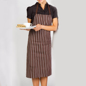 YORK Stripe Full Bib Apron
