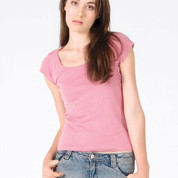 CASSIE | t-shirts women | scoop neck baby rib