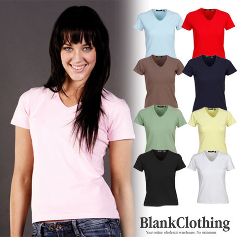 JACINTA | stretch v-neck t-shirts | women
