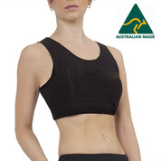 Australian Made | Re-energisers Crop Top | Black