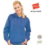 DAKOTA | Hanes Ladies Heavyweight Hooded Sweatshirt Bright Royal