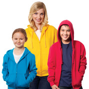 Plain Ladies/Junior Zipped Hoodies | Wholesale Supplier