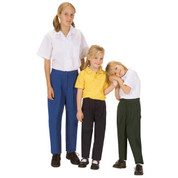 Girls Gaberdine School Slacks