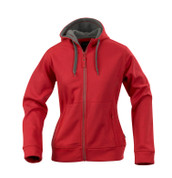 MILES Women polar-lined zipper hoodies Red/