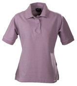 MORETON Women cotton pique polo shirts Lavender