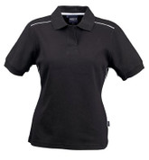 VERONA Women cotton jacquard polo shirts Black/White