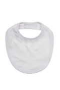 KIM Organic Cotton Baby Bib White