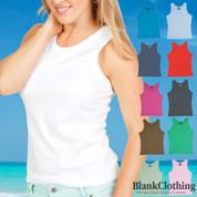 SHONA | tank top singlets fine rib women