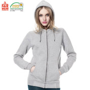 organic womens high neck hoodie | light heather