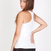 AUGUST | T-back singlet ladies | 100% cotton