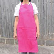 FRESH Plain Cotton Full Bib Apron Pink Watermelon