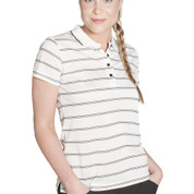 VARDON | ladies stripe polo | pique knit