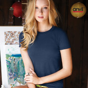 anvil ladies lightweight plain tshirt | sweatshop free