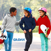 Gildan youth kids plain hoodie sweater