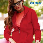quality plain zip hoodie | ladies slim fit