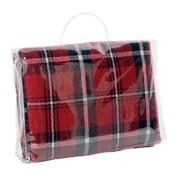 red | plain classic tartan picnic blanket