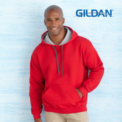 wholesale plain fleecy contrast hoodies