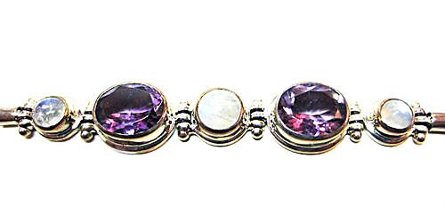 Amethyst and Moonstone Estate Bracelet