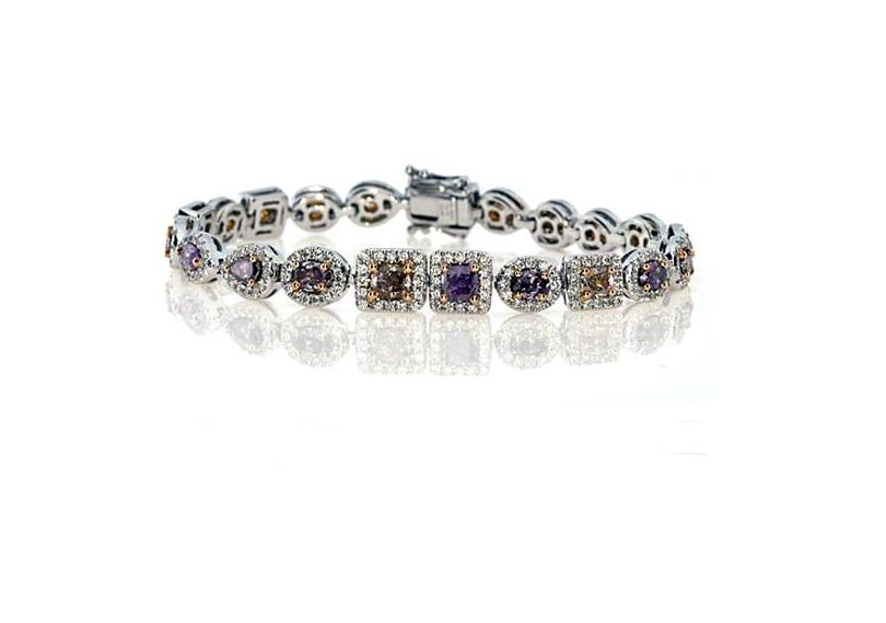 Fancy Purple Diamond Bracelet