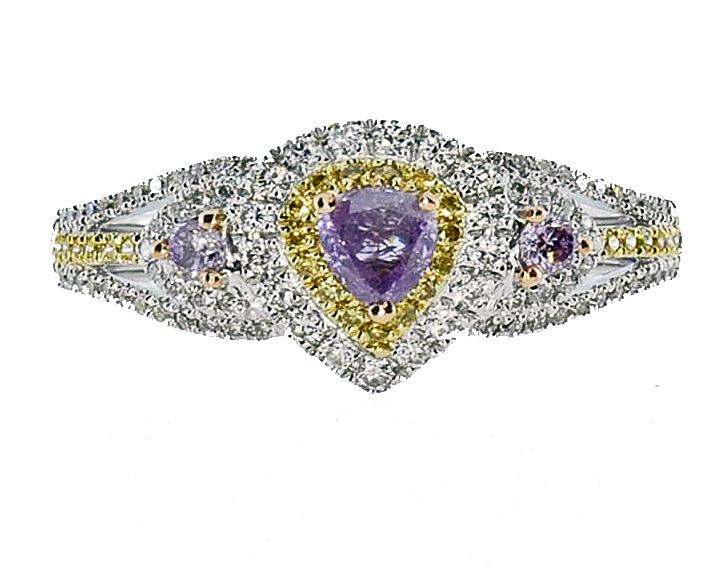 fancy-intense purple diamond