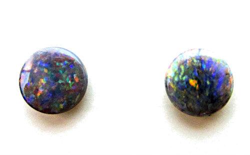 matched pair australian black opals