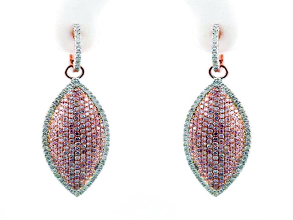 argyle fancy pink diamond earrings