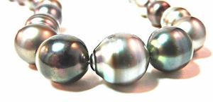 silver-black-tahitian-loose pearls. PKG Deal Incls Stringing, Clasp, Appraisal