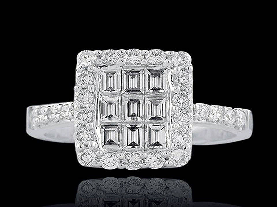 Argyle White Baguette Diamond Ring