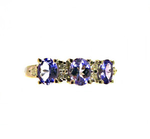 Nice Tanzanite & Diamond Ring