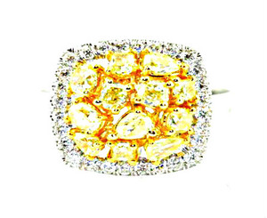 Natural Fancy Colored Diamond Ring