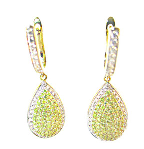 Natural Yellow Diamond Earrings - Argyle Mine Material