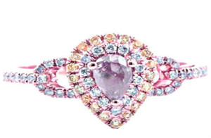 Natural Fancy Pink & Yellow and White Diamond Ring