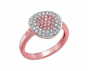 Natural Fancy Light Pink & White Diamond Ring