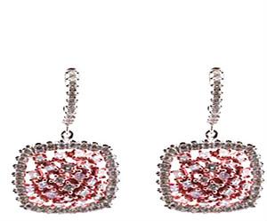 Fancy Pink Diamond Earrings
