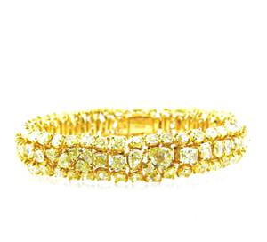 Natural Fancy Yellow Bracelet