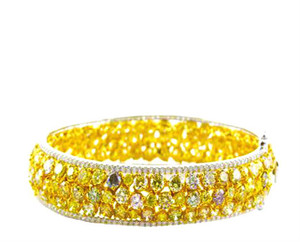 Natural Fancy Colored & Fancy Yellow Diamond Bangle