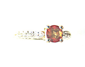 Orange Sapphire Antique Style Ring