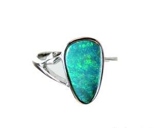 Australia Opal Silver Ring