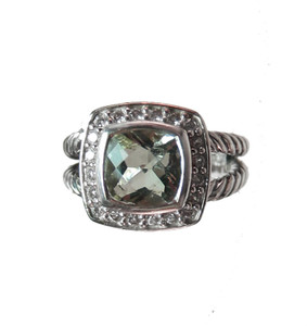 David Yurman Prasiolite and Diamond Ring