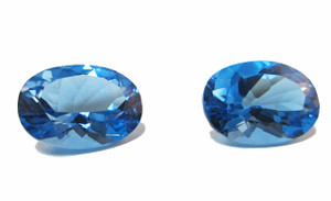 Swiss Blue Topaz Matched Pair