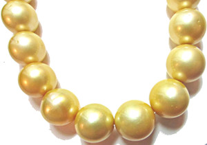 Perfectly rounded Golden South Sea Pearls