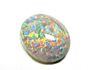 Australian Solid Black Opal- Lovely multi-colored!