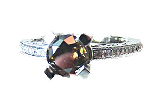 Natural Cognac Diamond Ring