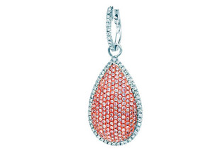 Argyle Pink & White Diamond Pendant - 18KT