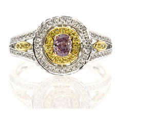 Dazzling Australia Fancy Pink Purple Cocktail Ring