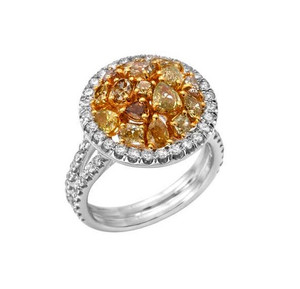 Fancy Brownish Yellow Diamond Ring