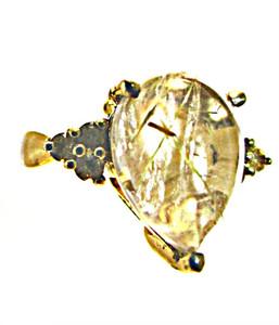Rutilated Quartz Ring- KARIS Collection